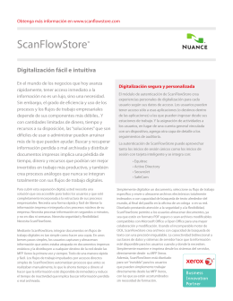 Folleto - Nuance ScanFlowStore