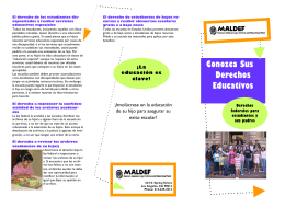 MALDEF Derechos Educativos Federales folleto