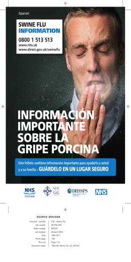 información importante sobre la gripe porcina