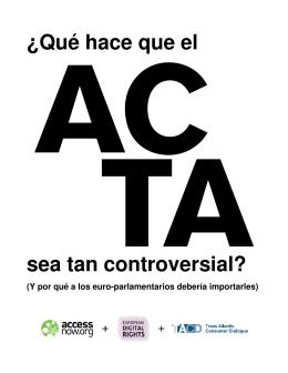 ¿Qué es el ACTA? - Manzana Mecánica