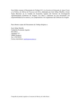 Este folleto resume el Documento de Trabajo 01/2, La Gestión de
