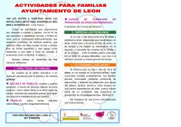 Folleto Actividades Prevención Familiar