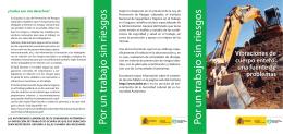 folleto vibraciones - Instituto Nacional de Seguridad e Higiene en el