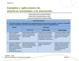 Folleto 4.1: Prácticas orientadas a la asociación