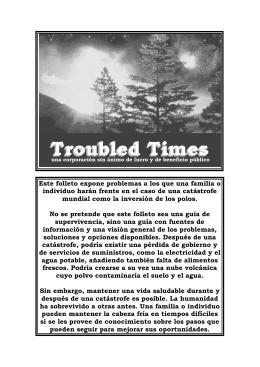 Este folleto expone problemas a los que una familia o individuo
