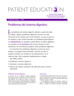 Patient Education Pamphlet, SP120, Problemas del sistema digestivo