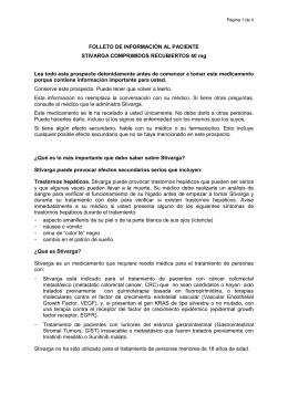 FOLLETO DE INFORMACIÓN AL PACIENTE STIVARGA