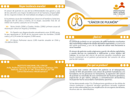 folleto Cáncer de pulmón copia - Instituto Nacional del Cáncer