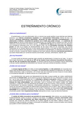 ESTREÑIMIENTO CRÓNICO - Centro Europeo Cirugía Colorrectal