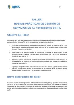 TALLER - Dirección Nacional de Aduanas