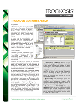 PROGNOSIS Automated Analyst