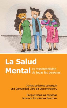 La Salud Mental es responsabilidad de todas las personas. Folleto