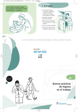 MAZ | Folleto 20 | Buenas prácticas de higiene en el trabajo