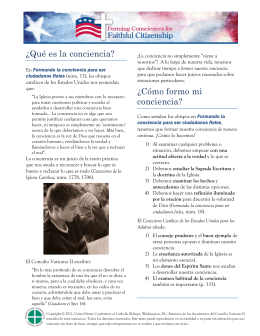 Cómo formo mi conciencia? - United States Conference of Catholic