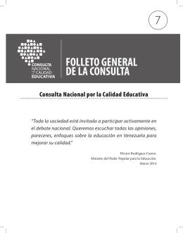 Folleto general de la consulta - Consulta Nacional por la Calidad