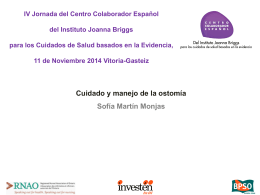 Cuidado y manejo de la ostomía - Centro Colaborador Español del