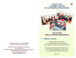 FOLLETO-GUÍA PARA LAS PERSONAS PARTICIPANTES