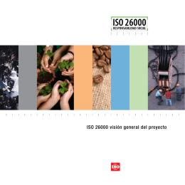 ISO 26000 visión general del proyecto