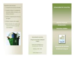 Desechos Sólidos - ProGAI - Universidad de Costa Rica