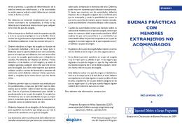 BUENAS PRÁCTICAS CON MENORES EXTRANJEROS