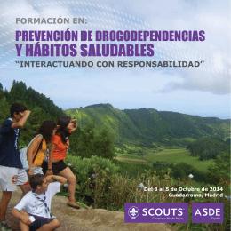 Drogas folleto curso - ASDE Scouts de España