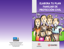 Elabora un plan familia de Protección Civil
