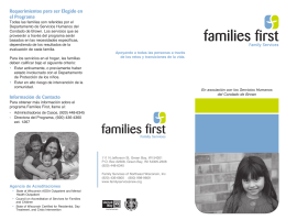 Folleto de Families First - Family Services of Northeast Wisconsin, Inc.