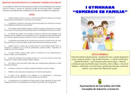 Folleto y Cartilla de participación Gymkhana `Comercio en Familia`