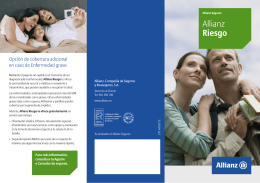 Folleto Allianz Riesgo