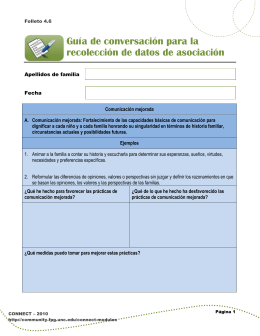 Guía de conversación para la recolección de datos de asociación