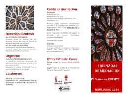 FOLLETO CURSO DE MEDIACION - Ilustre Colegio de Abogados