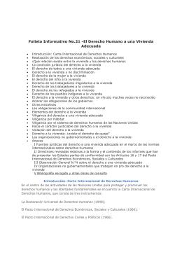 Folleto Informativo No.21 -El Derecho Humano a una Vivienda