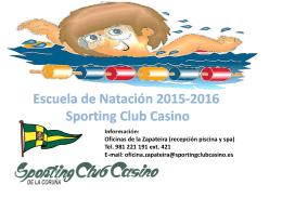 Folleto Cursos de Natación 2015-2016