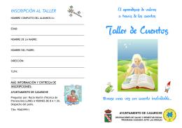 folleto informativo - Excmo. Ayuntamiento de Casariche