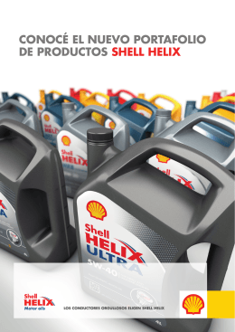 Folleto Familia Shell Helix