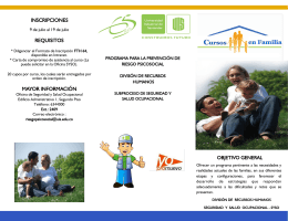 Folleto Cursos en Familia
