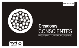 Folleto Creadoras conscientes