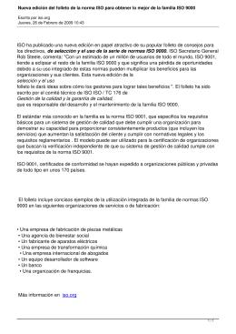 Nueva edición del folleto de la norma ISO para obtener lo mejor de