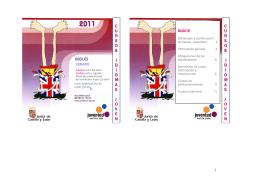 folleto cursos inglés verano 2011