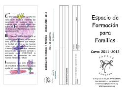 Folleto Escuela de padres y madres 2011-12