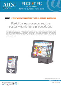 Folleto Pocket Pc Telecomanda.FH11
