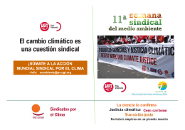 folleto 11ª SEMANA SINDICAL DEL MEDIO AMBIENTE - UGT