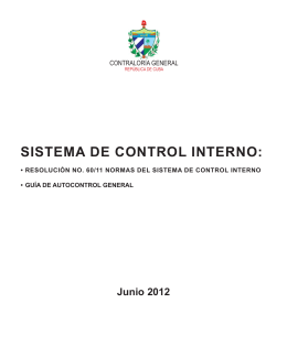 Folleto Sistema Control Interno