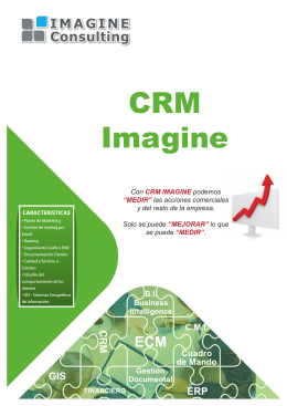 Folleto Imagine CRM - IMAGINE CONSULTING