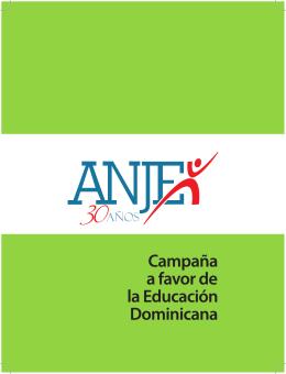Folleto Campaña a Favor de la Educación Dominicana