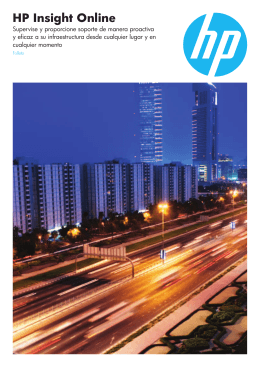 HP Insight Online – Folleto