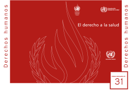 El derecho a la salud - Office of the High Commissioner for Human