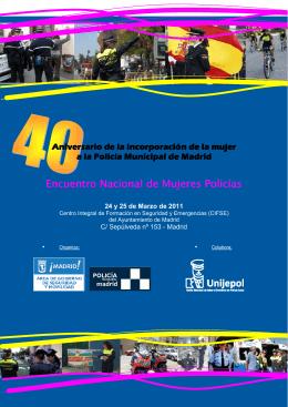 Folleto Encuentro de Mujeres Policías