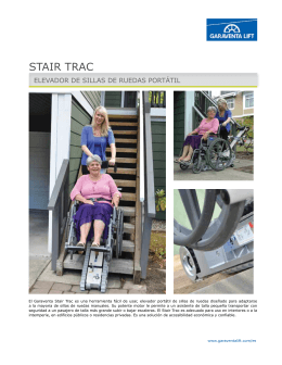 Folleto del Stair-Trac