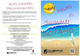 Folleto talleres verano 2014 - Ayuntamiento de Molina de Segura